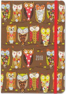 2018 Perching Owls Diary by Peter Pauper