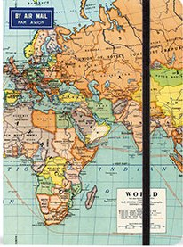 Large World Map notebook