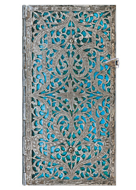Silver Filigree Maya Blue Slim