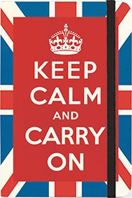 Small Keep Calm Notebook by Cavallini & Co