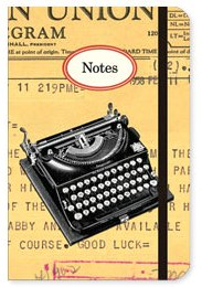 Small Vintage Typewriter Notebook by Cavallini & Co
