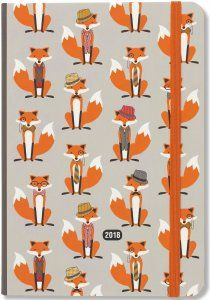 2018 Dapper Foxes Diary by Peter Pauper