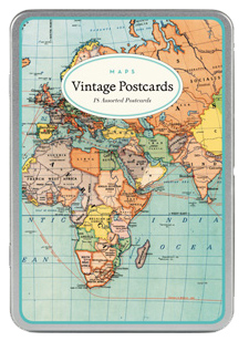 Maps Vintage Postcards