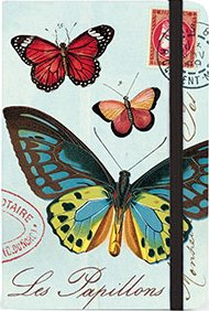Small Butterflies Notebook by Cavallini & Co