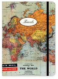Small Travels Stanford's World Map Notebook